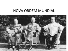 NOVA ORDEM MUNDIAL – Prof. Sidnei
