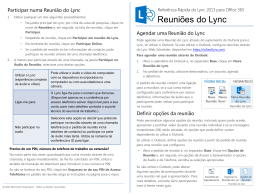 Quick Reference about Lync Meetings