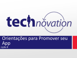 Lição 8 - Technovation
