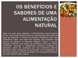 Os benefícios e sabores de uma alimentação saudável