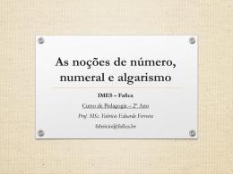 A noção de número, numeral e algarismo na Educação Infantil