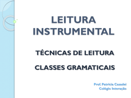 LEITURA INSTRUMENTAL - PatriciaCasadei - home