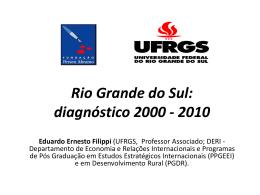 diagnóstico 2000 - 2010 Rio Grande do Sul