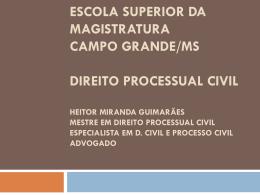Universidade Católica Dom Bosco * Campo Grande/MS Pós