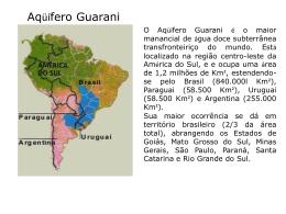 aquifero guarani - Somar Concursos