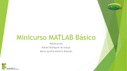 Minicurso MatLab Básico