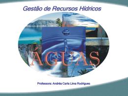 Água - Área de Engenharia de Recursos Hídricos