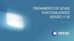 série 1 varejo – versão 11.90 - TDN