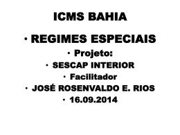 ICMS BAHIA - Sescap Bahia