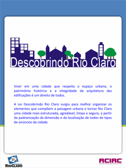 cartilha final -06-06-2012 - Rio Claro