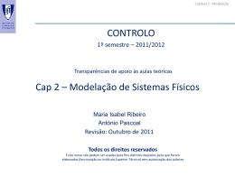 Capítulo 2- Modelação