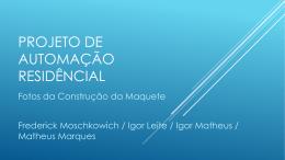 PROJETO DE AUTOMAÇÃO RESIDÊNCIAL