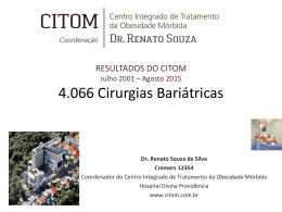 Resultados - Dr. Renato Souza | Cirurgia da Obesidade | Porto Alegre