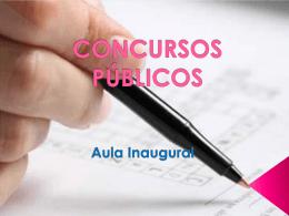 Aula de Abertura (Concurso Público)
