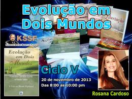 Evolução em Dois Mundos - Cap. 13 ao 15 (RosanaC)