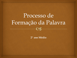 Processo de Formação da Palavra (405035)