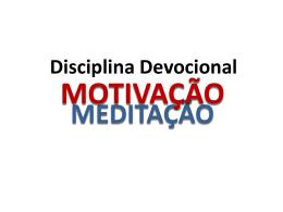 Disciplina Devocional