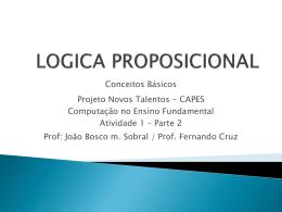 Introduzindo Lógica Proposicional