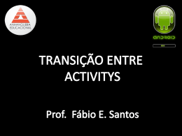 TRANSIÇÃO ENTRE ACTIVITYS