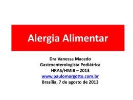 Alergias Alimentares - Paulo Roberto Margotto