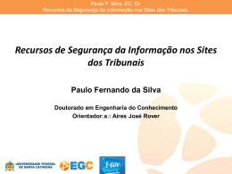 Recursos de Segurança da Informação nos Sites dos Tribunais