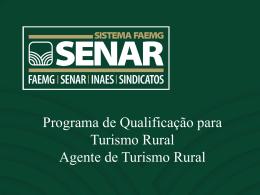 Apresentação Agente Turismo Rural 2015