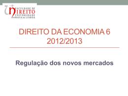 """regulação dos """"novos mercados"""""""