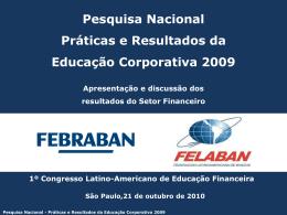 Pesquisa Nacional Práticas e Resultados da Educação