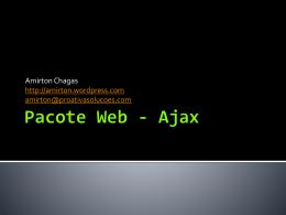 Pacote Web - Ajax