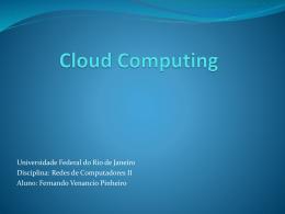 Apresentacao Cloud Computing