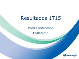 Apresentação de Resultados 1T15