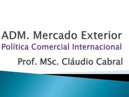 Política Comercial Internacional - Universidade Castelo Branco