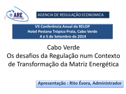 Promotion of Renewable Energy in Cape Verde