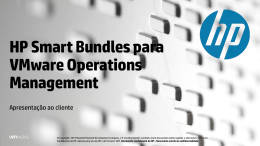 HP Smart Bundles para VMware Operations Management