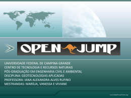 Openjump - Universidade Federal de Campina Grande