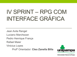 Iv Sprint * rpg com interface gráfica