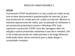 Protocolo TCP/IP - Professor Ermerson