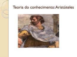Teoria do conhecimento: Aristóteles