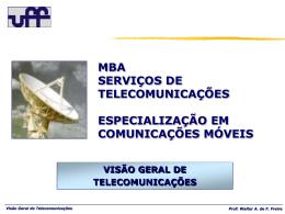 visão geral de telecomunicações - Departamento de Engenharia de