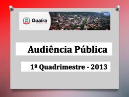 Apresentação do PowerPoint - Câmara Municipal de Guaíra