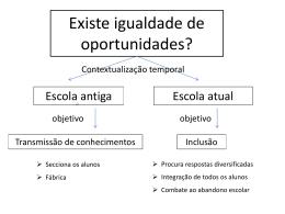 Existe igualdade de oportunidades?