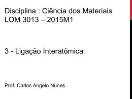 3 Ligação interatômica v12.03.2015