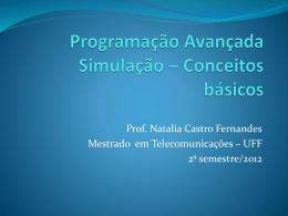 Programação Avançada Simulação – Conceitos básicos