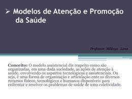 Modelos de Atenção e promoção da Saúde