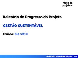 Relatório de progresso - outubro