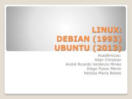 trabalho debian e ubuntu - UNEMAT – Campus de Sinop