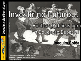 Power point da intervenção de Joaquim Colôa