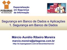 1. Segurança em Banco de Dados