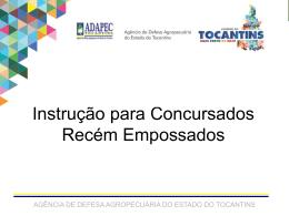 Curso atualização para Med Vet - Governo do Estado do Tocantins