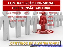 contracepção hormonal hipertensão arterial - GO